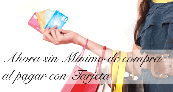 pago tarjeta sin mínimos